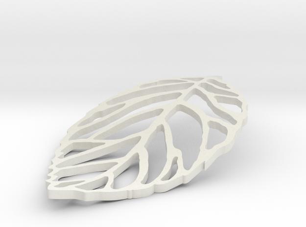 Leaf Outline in White Natural Versatile Plastic