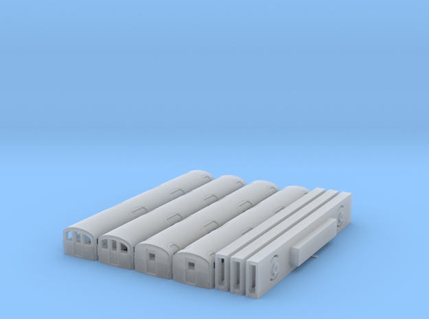 N Gauge 1959 Tube Train 4Car in Frosted Ultra Detail