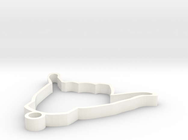 Shaka Keychain 3d printed