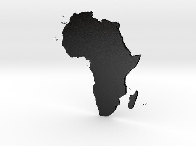 Africa 3D Design in Matte Black Steel