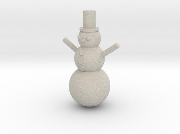 Snowman in Sandstone