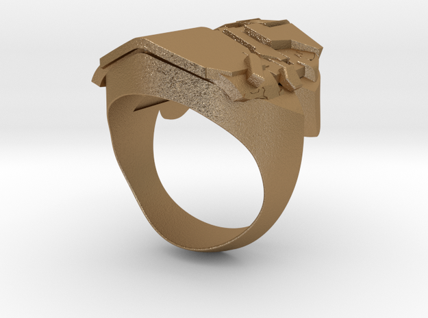 Dead Space Security Helmet ring 3d printed