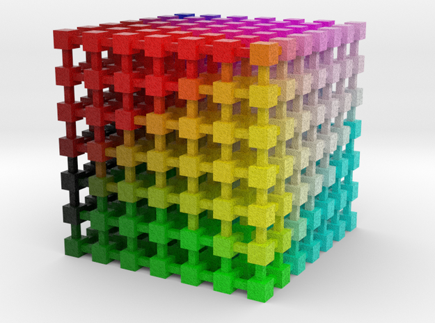 LAB Color Cube: 3.5 inch in Full Color Sandstone