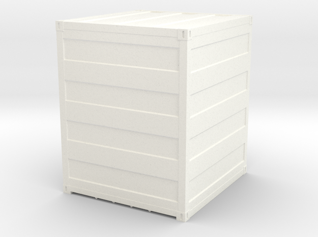 Container 10 ft scale 1:87 in White Strong & Flexible Polished