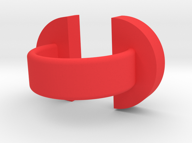 'e' double head ring 3d printed