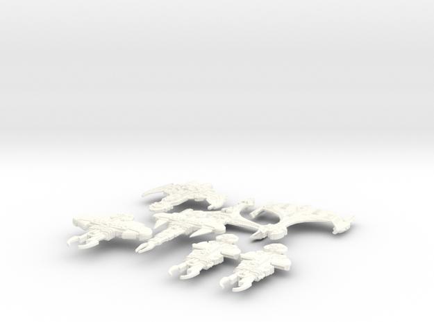 Scuffle in White Processed Versatile Plastic