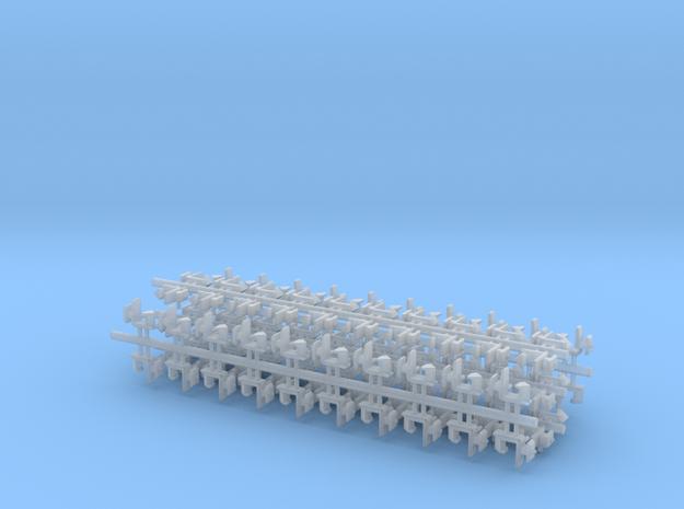 100 Rapido coupler 1.25mm shaft N Gauge 011213 in Smooth Fine Detail Plastic