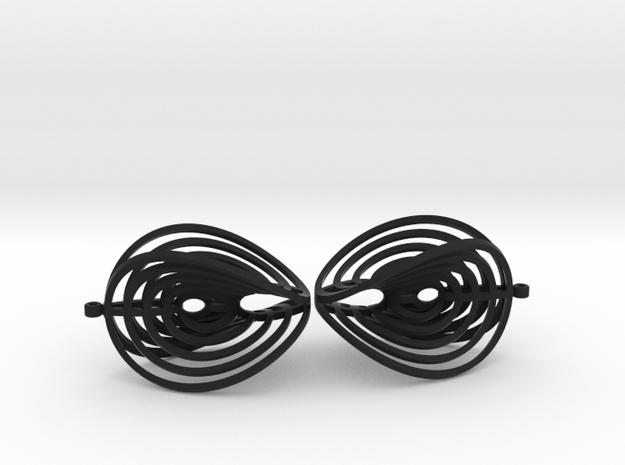 Aerial earring 3d printed Printed in steel.