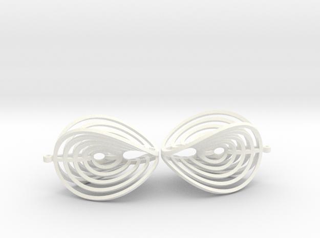 Aerial earring 3d printed
