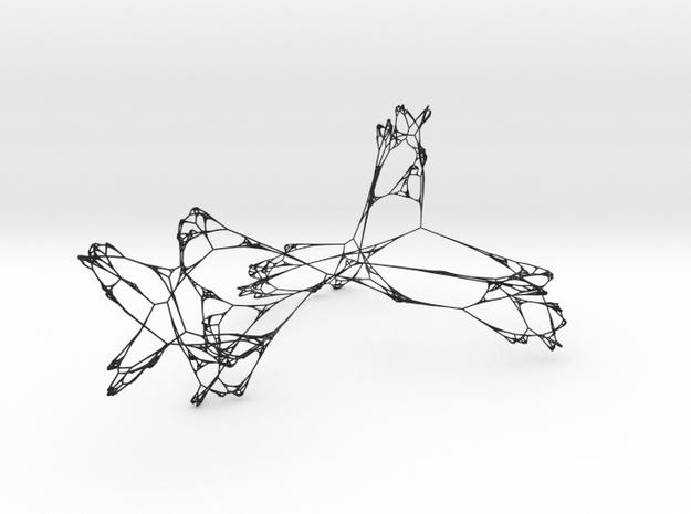 Winged Fractal Net 3d printed