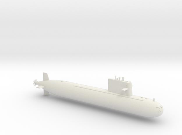 1/700 Type 091 Submarine in White Natural Versatile Plastic