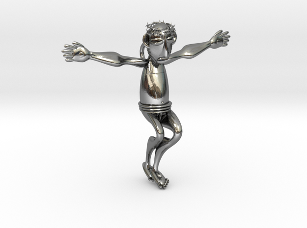 Yesu in Polished Silver