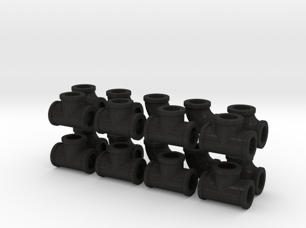 """7/8"""" scale pipe fittings: 3"""" pipe 3d printed"""
