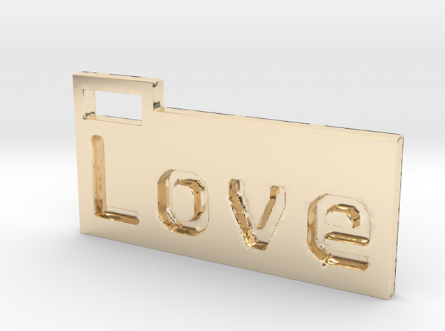 Love 3D in 14K Yellow Gold