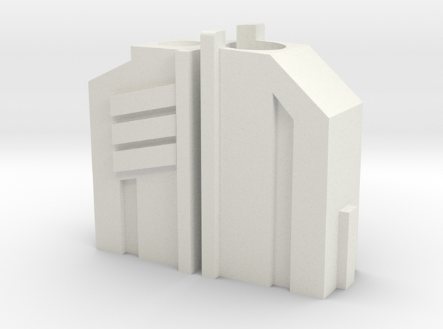 DC17 Top in White Natural Versatile Plastic