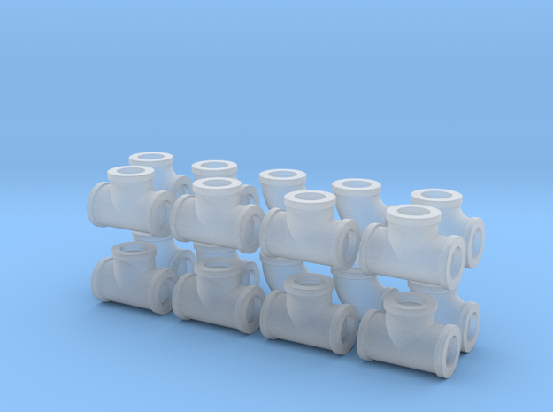 "7/8"" scale pipe fittings: 1 1/2"" pipe 3d printed"