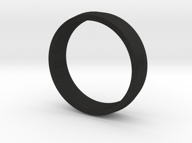 Ridged Ring in Black Acrylic