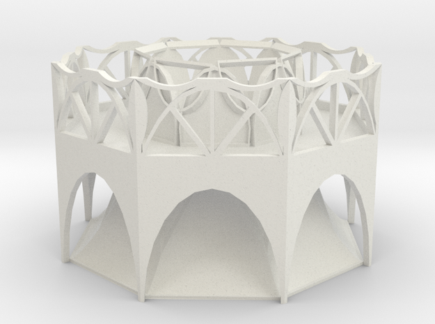 Arch Planter in White Natural Versatile Plastic