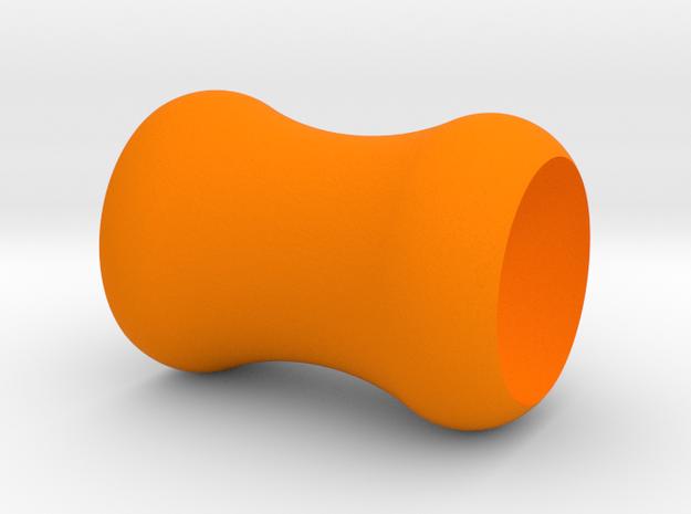 Ear Plug Hearts 6mm in Orange Strong & Flexible Polished