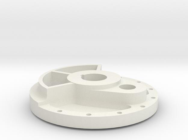 Climax Crank Disk - 1-8th Scale in White Natural Versatile Plastic