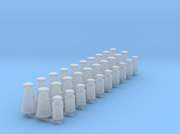 GWR Milk Churns (OO scale) in Smooth Fine Detail Plastic