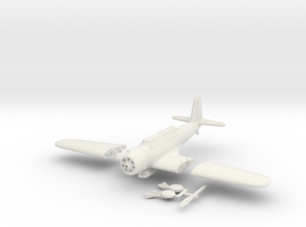 1/100 Vought SB2U Vindicator (folding wings) 3d printed