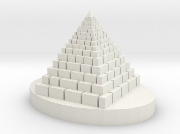 Big Pyramid in White Natural Versatile Plastic