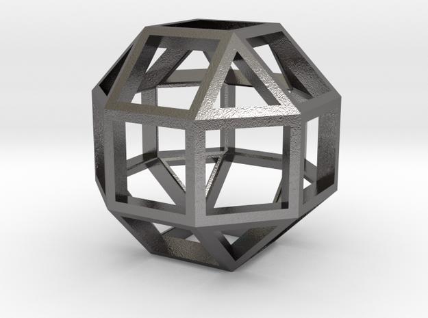 Rhombicuboctahedron in Polished Nickel Steel