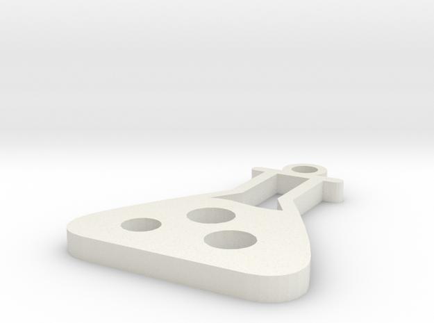 Chemistry Pendant in White Natural Versatile Plastic