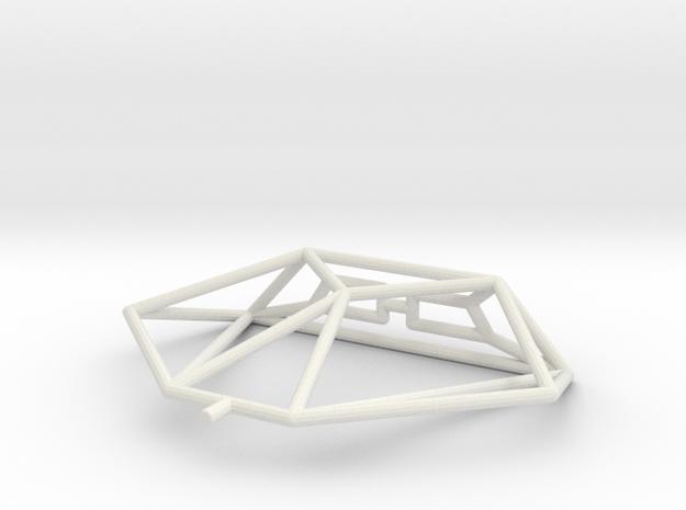 Cobra mk I Wireframe 1-300 in White Natural Versatile Plastic