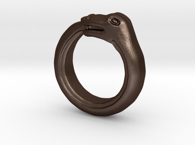 Ouroboros Ring in White Natural Versatile Plastic