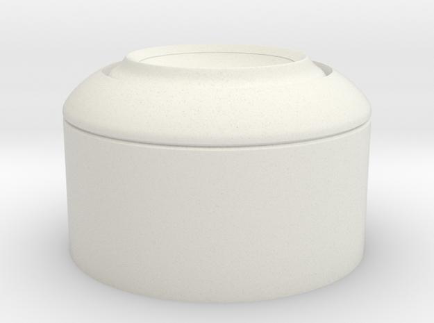 Daft Punk Thomas RAM Style Ear 3.1in in White Natural Versatile Plastic