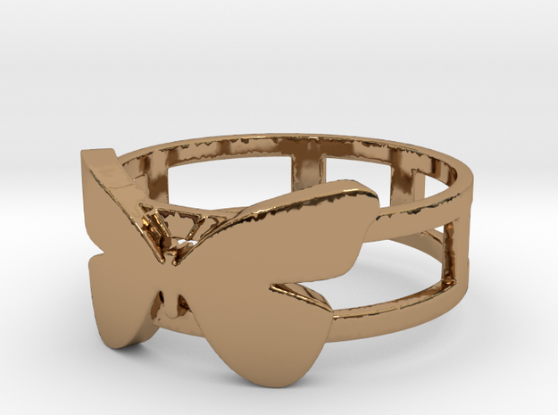 Butterfly ring 2 Ring Size 9 3d printed