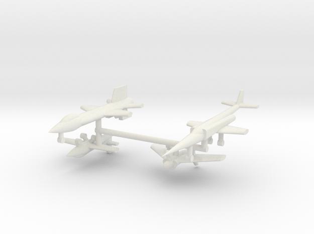 1/285 Experimental Aircraft Set 1 in White Natural Versatile Plastic