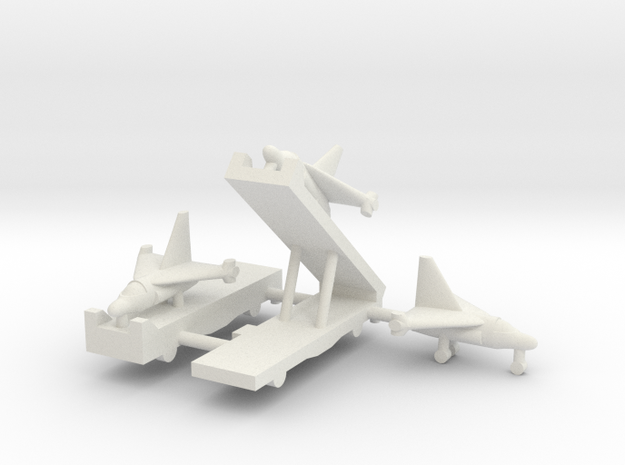 1/285 Experimental Aircraft Set 3 in White Natural Versatile Plastic