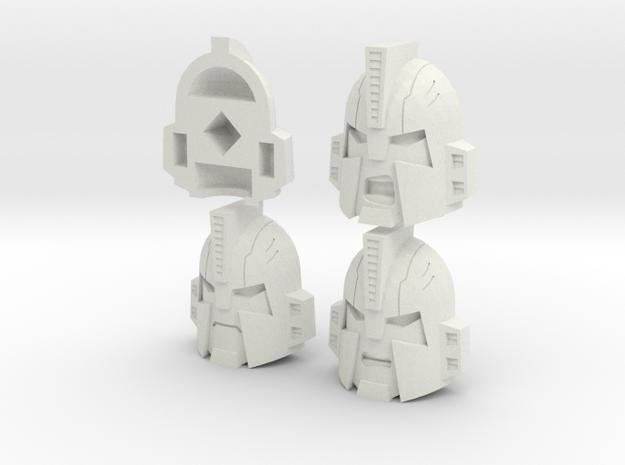 Impactor Head in White Natural Versatile Plastic