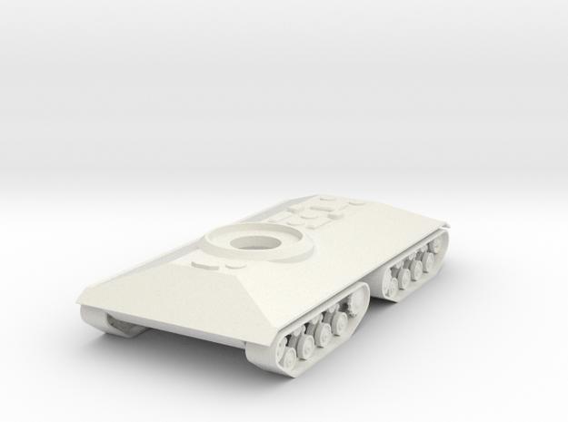 1/100 T-86/KVS-2 Hull, No Turrets in White Natural Versatile Plastic