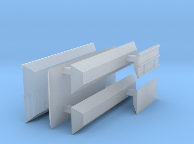 1/700 Shipping Container Stack of 2 in Smooth Fine Detail Plastic