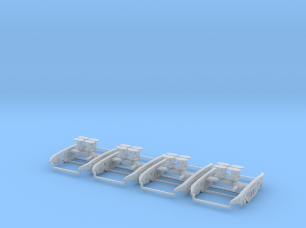 PXA MK2 bogies for PXA bogie box 2 wagons worth in Smooth Fine Detail Plastic