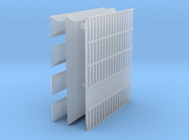 1/700 Shipping Container Stack of 5 in Smooth Fine Detail Plastic