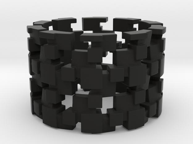 Tilt Cubes Ring Size 13 3d printed