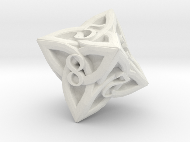 Celtic D8 - Solid Centre for Plastic in White Strong & Flexible