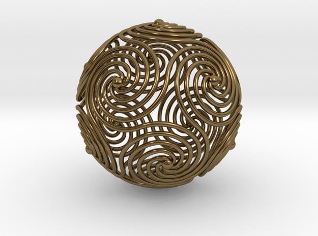 Spiraling Icosahedron 3d printed