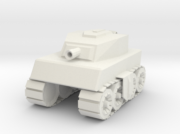 Tankmm in White Natural Versatile Plastic