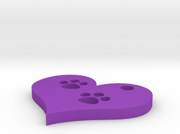 paw prints 3d printed