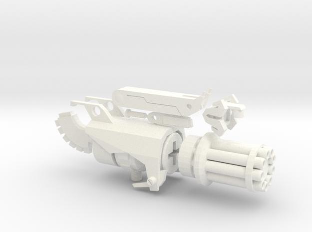 TFP Beast Hunters Optimus Gatling in White Processed Versatile Plastic