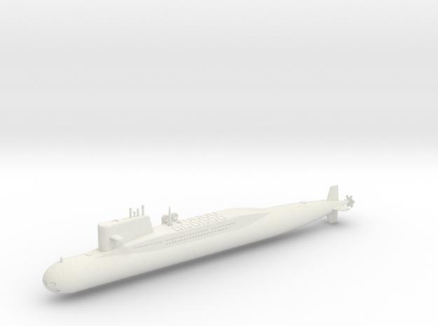 1/700 Type 092 (Xia Class) SSBN in White Natural Versatile Plastic