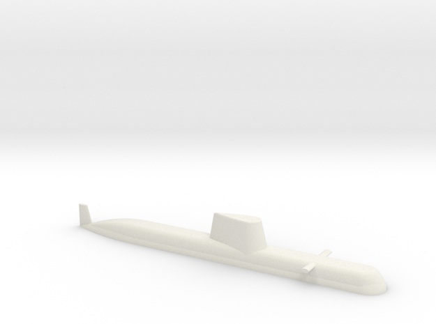 1/700 Type 214 Class Submarine (Waterline) in White Natural Versatile Plastic