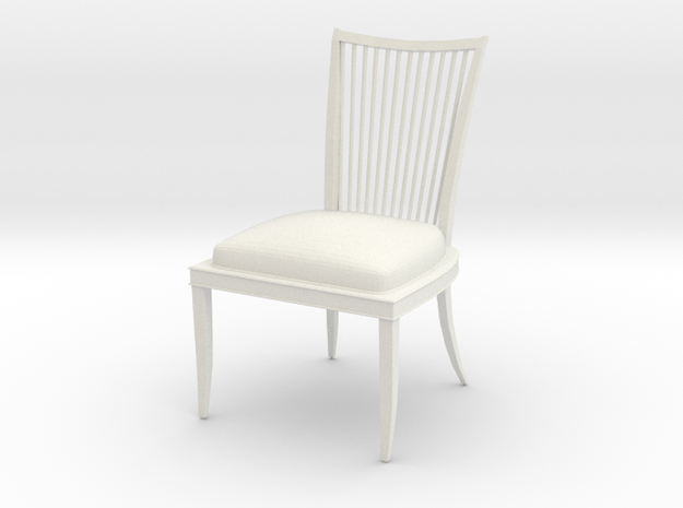 Chair2 in White Natural Versatile Plastic