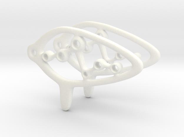 Orcarina Earring 3d printed